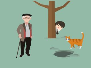 El anciano y el gato